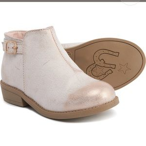 Gold foil boots for girls